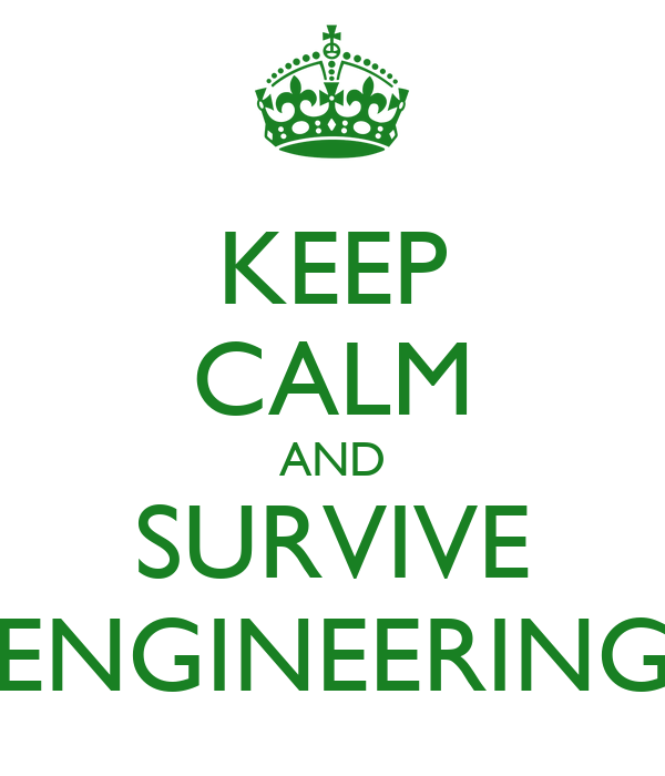 KEEP CALM AND SURVIVE ENGINEERING