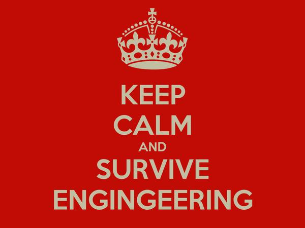 KEEP CALM AND SURVIVE ENGINGEERING