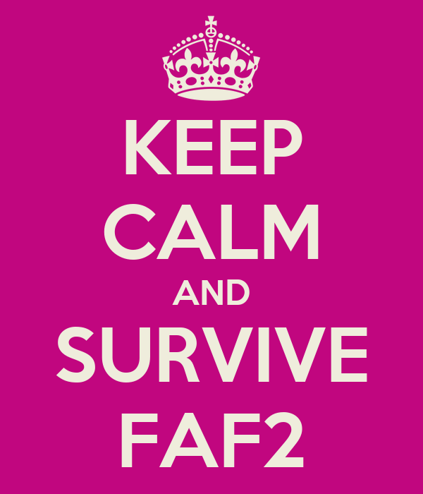KEEP CALM AND SURVIVE FAF2