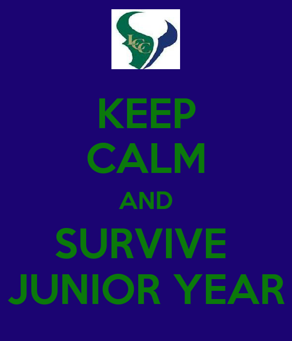 KEEP CALM AND SURVIVE  JUNIOR YEAR