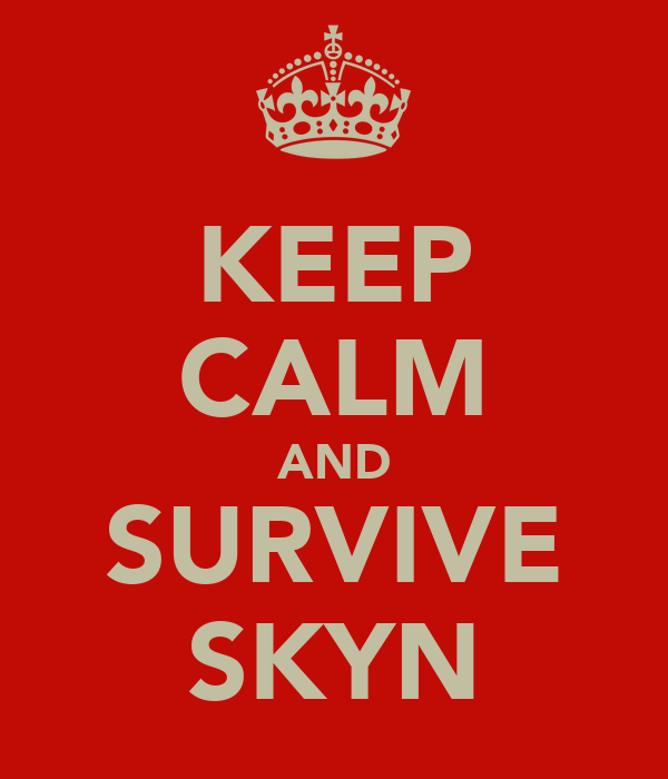 KEEP CALM AND SURVIVE SKYN