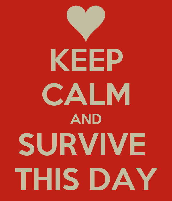 KEEP CALM AND SURVIVE  THIS DAY