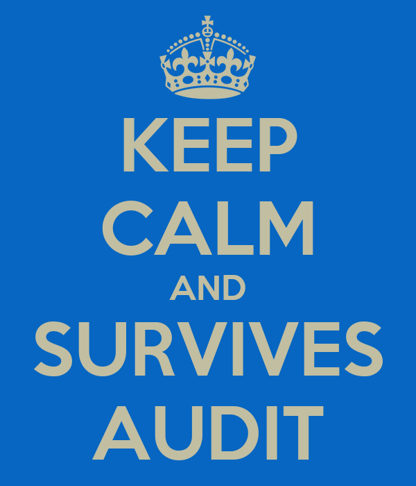 KEEP CALM AND SURVIVES AUDIT
