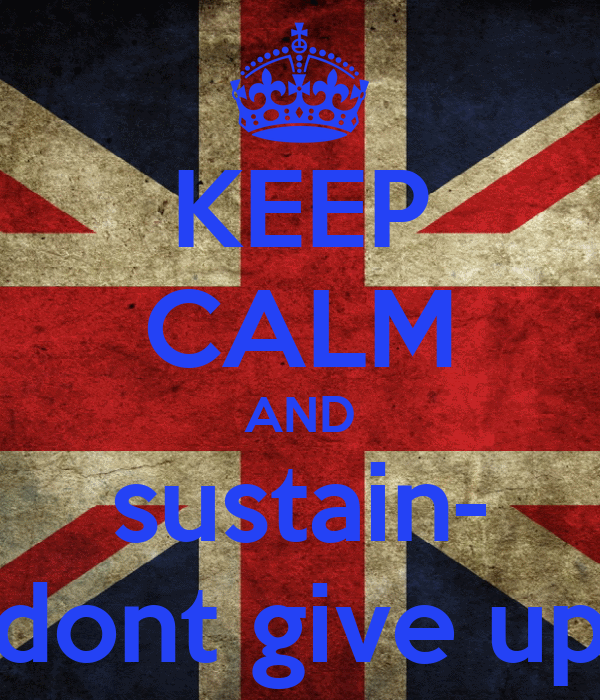 KEEP CALM AND sustain- dont give up