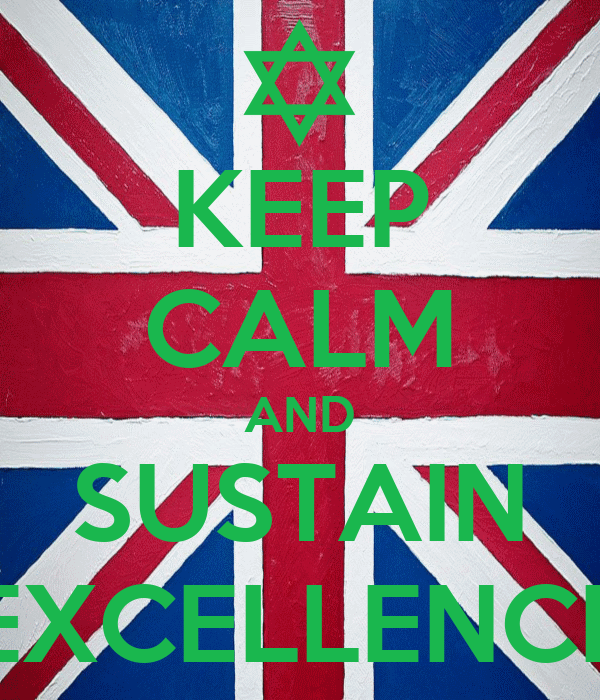 KEEP CALM AND SUSTAIN EXCELLENCE