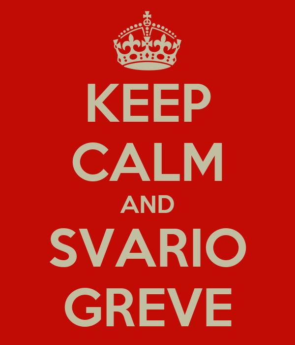 KEEP CALM AND SVARIO GREVE