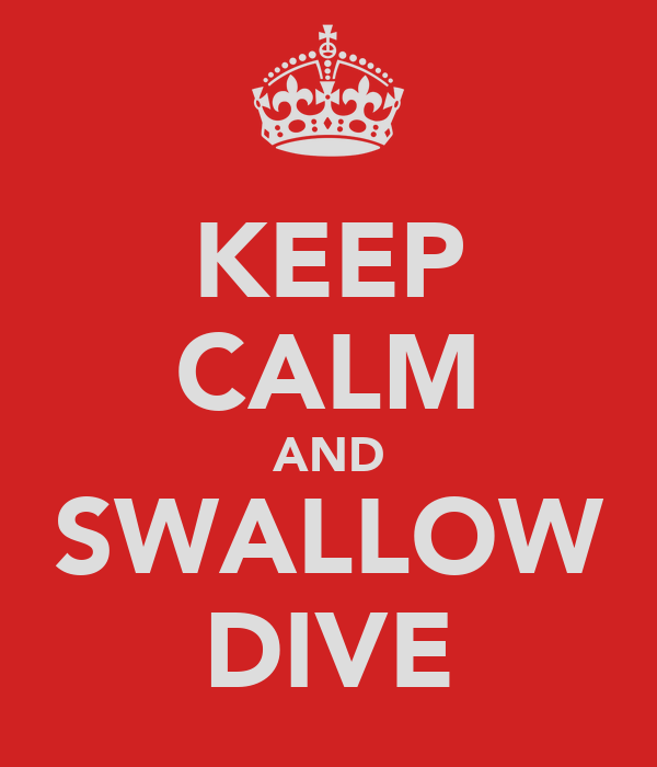 KEEP CALM AND SWALLOW DIVE