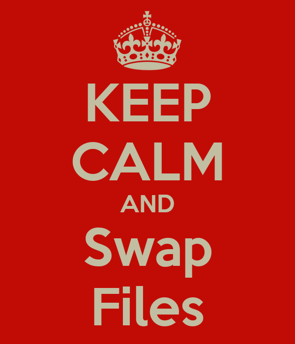 KEEP CALM AND Swap Files