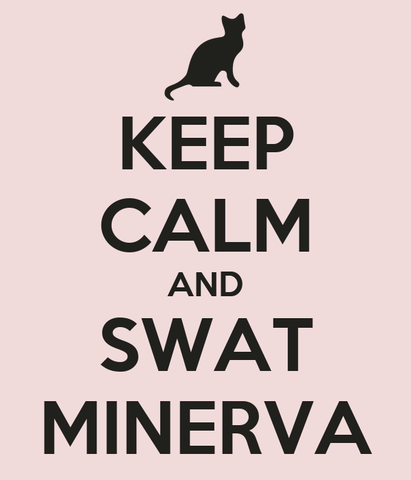 KEEP CALM AND SWAT MINERVA