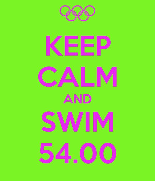 KEEP CALM AND SWIM 54.00