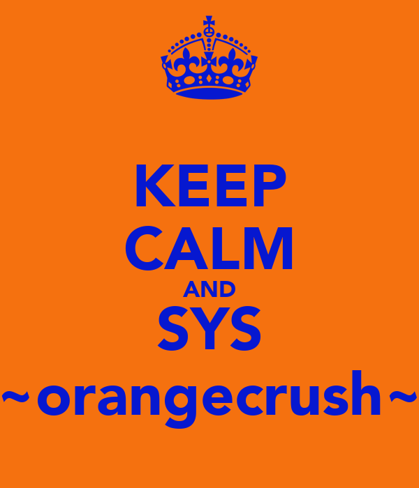 KEEP CALM AND SYS ~orangecrush~