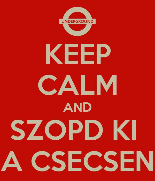 KEEP CALM AND SZOPD KI  A CSECSEN