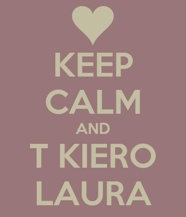 KEEP CALM AND T KIERO LAURA