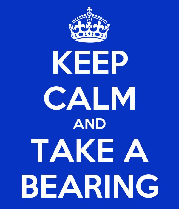 KEEP CALM AND TAKE A BEARING