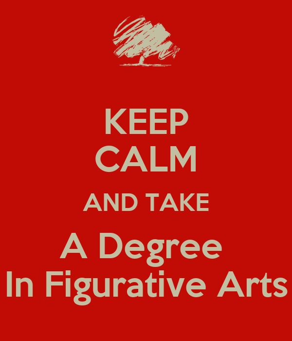 KEEP CALM AND TAKE A Degree  In Figurative Arts