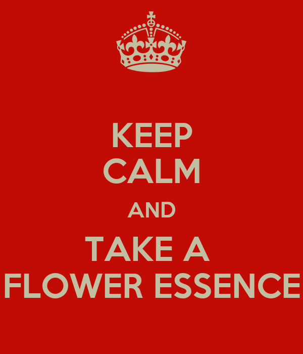 KEEP CALM AND TAKE A  FLOWER ESSENCE