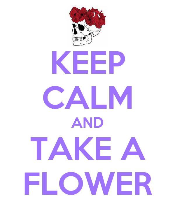 KEEP CALM AND TAKE A FLOWER