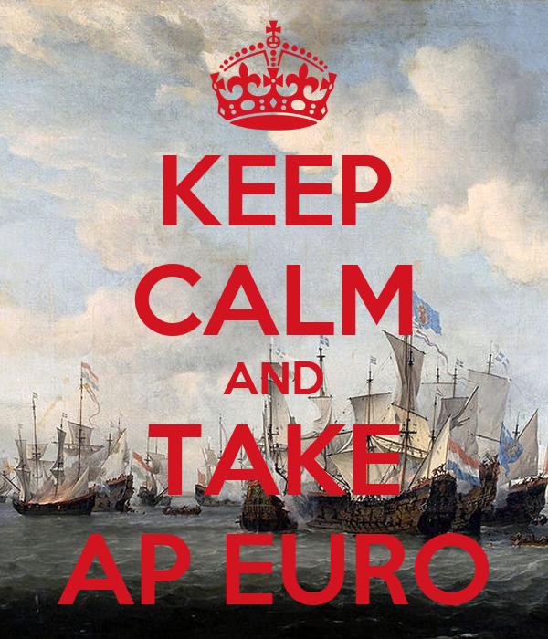 KEEP CALM AND TAKE AP EURO