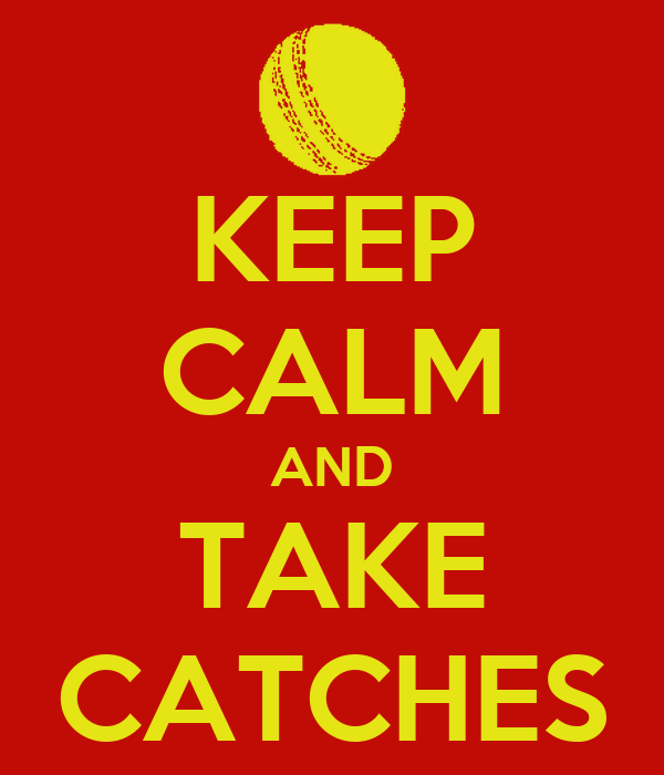 KEEP CALM AND TAKE CATCHES