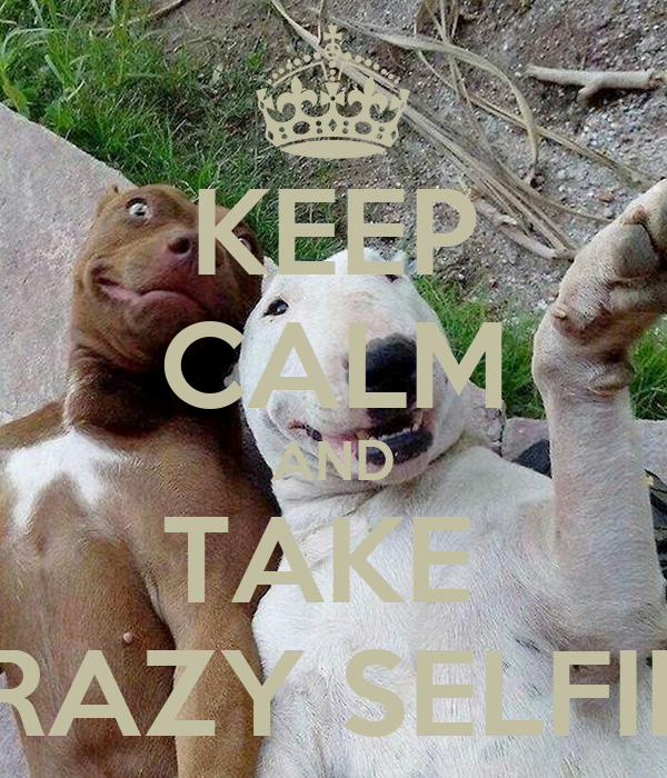 KEEP CALM AND TAKE  CRAZY SELFIES