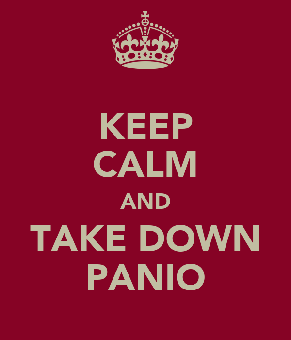 KEEP CALM AND TAKE DOWN PANIO