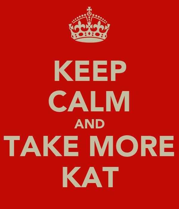 KEEP CALM AND TAKE MORE KAT