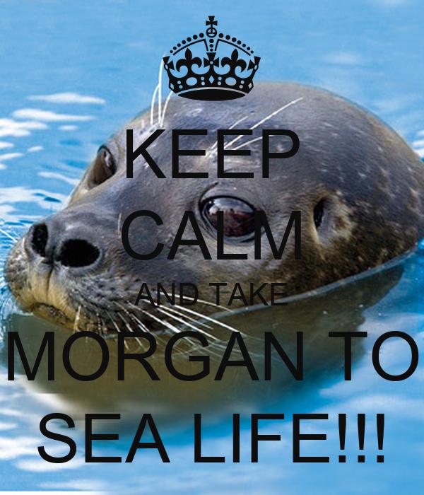 KEEP CALM AND TAKE MORGAN TO SEA LIFE!!!