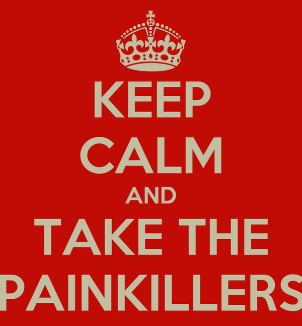 KEEP CALM AND TAKE THE PAINKILLERS