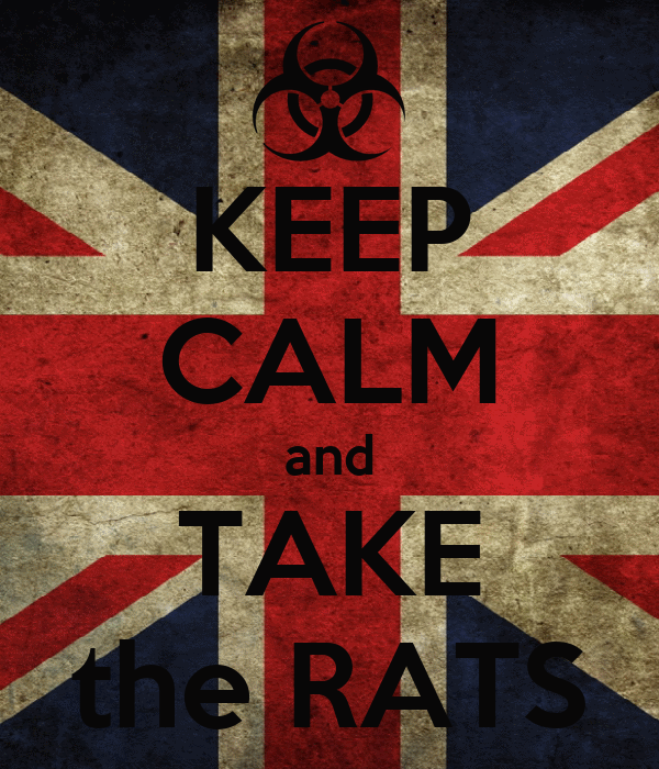 KEEP CALM and TAKE the RATS