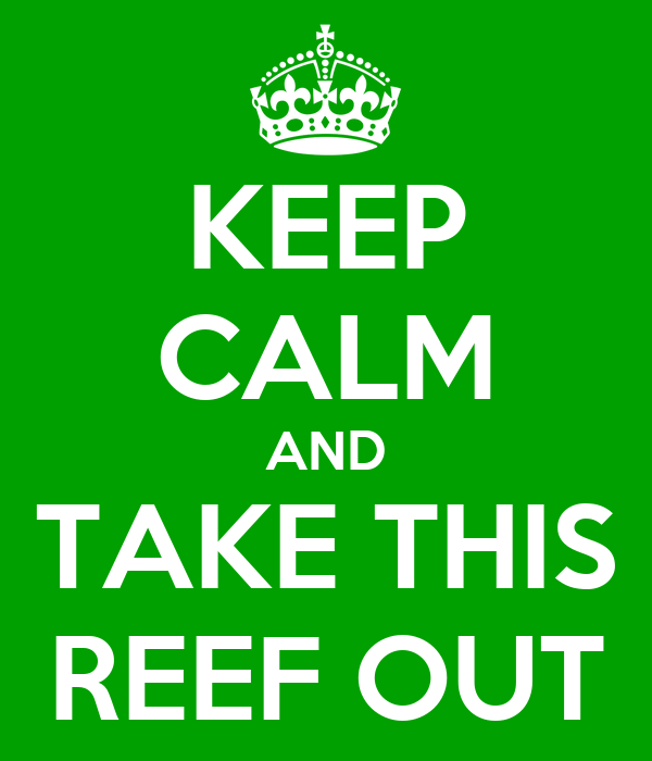 KEEP CALM AND TAKE THIS REEF OUT
