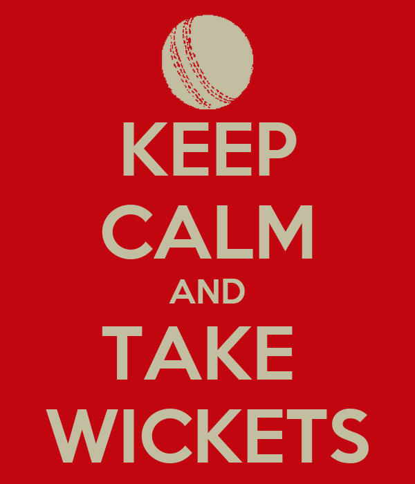 KEEP CALM AND TAKE  WICKETS