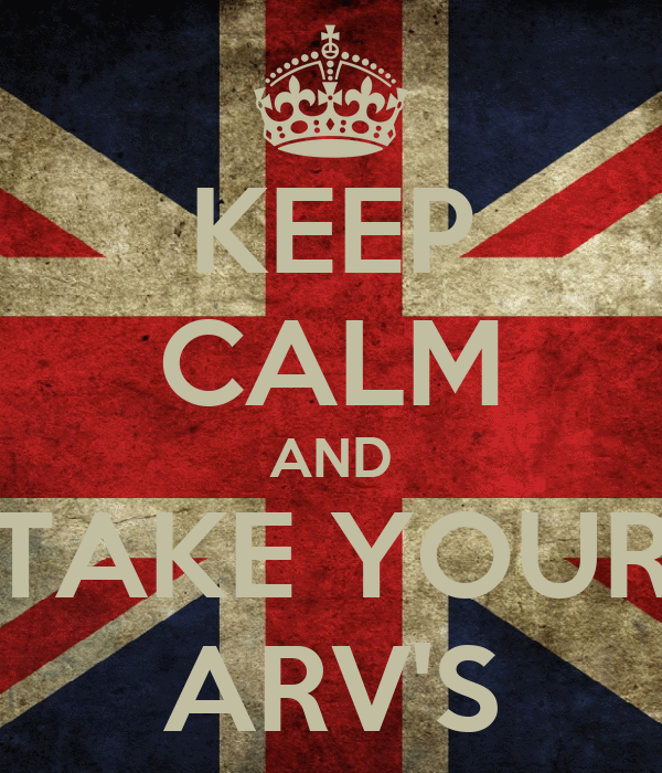 KEEP CALM AND TAKE YOUR ARV'S