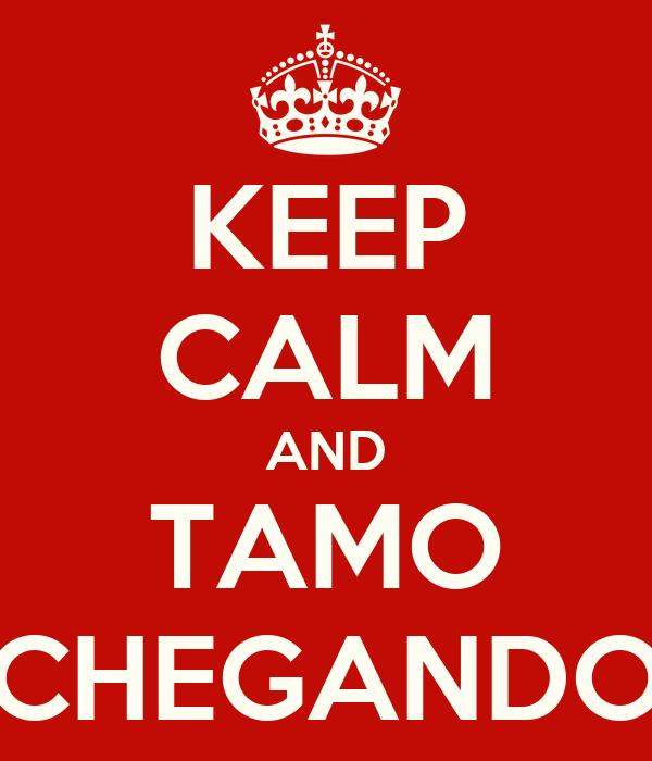 KEEP CALM AND TAMO CHEGANDO