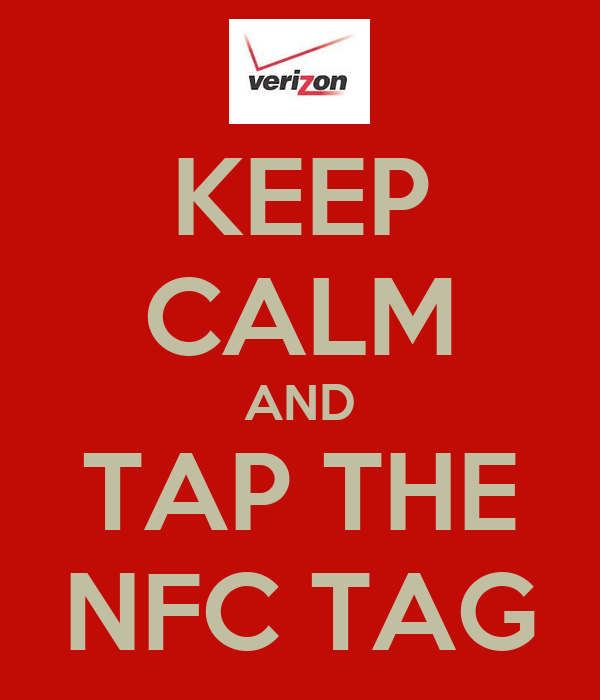 KEEP CALM AND TAP THE NFC TAG