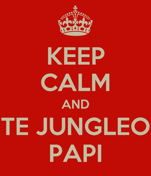 KEEP CALM AND TE JUNGLEO PAPI