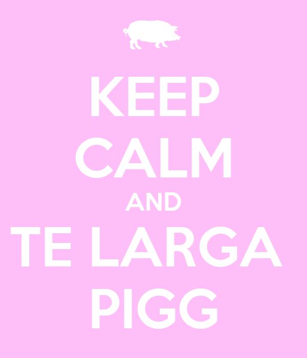 KEEP CALM AND TE LARGA  PIGG