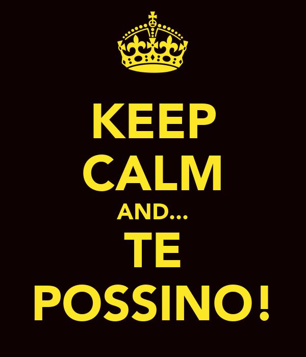 KEEP CALM AND... TE POSSINO!
