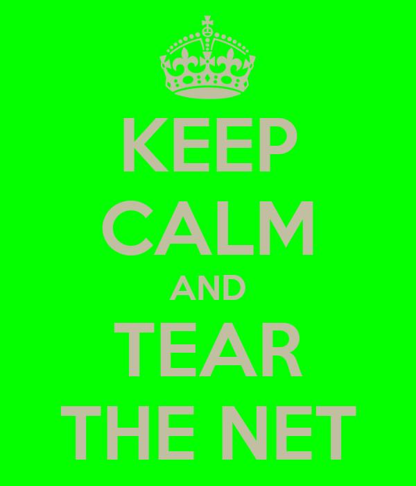 KEEP CALM AND TEAR THE NET