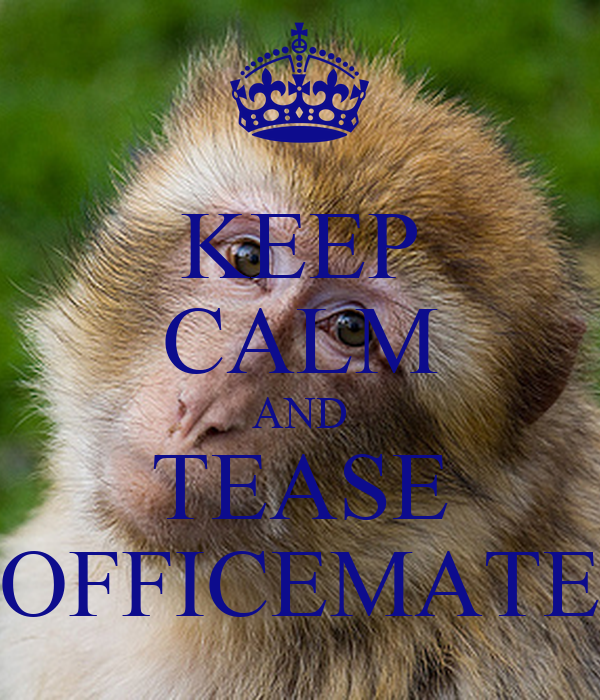 KEEP CALM AND TEASE OFFICEMATE