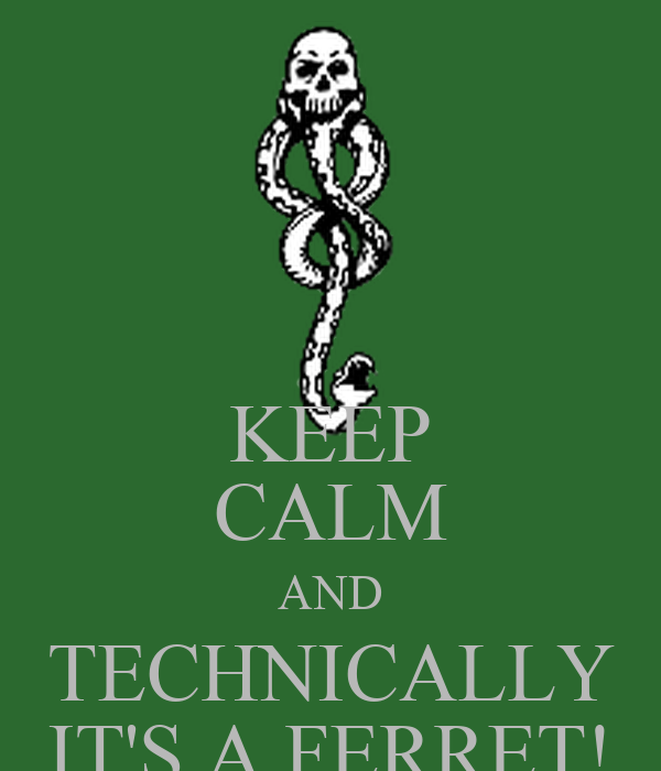 KEEP CALM AND TECHNICALLY IT'S A FERRET!