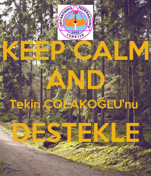 KEEP CALM AND Tekin ÇOLAKOĞLU'nu  DESTEKLE