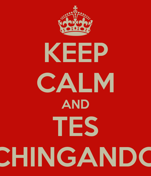 KEEP CALM AND TES CHINGANDO