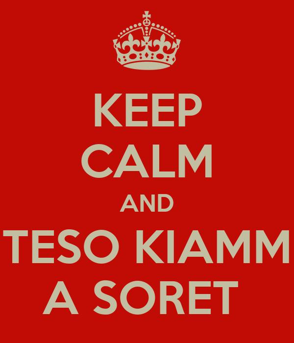 KEEP CALM AND TESO KIAMM A SORET