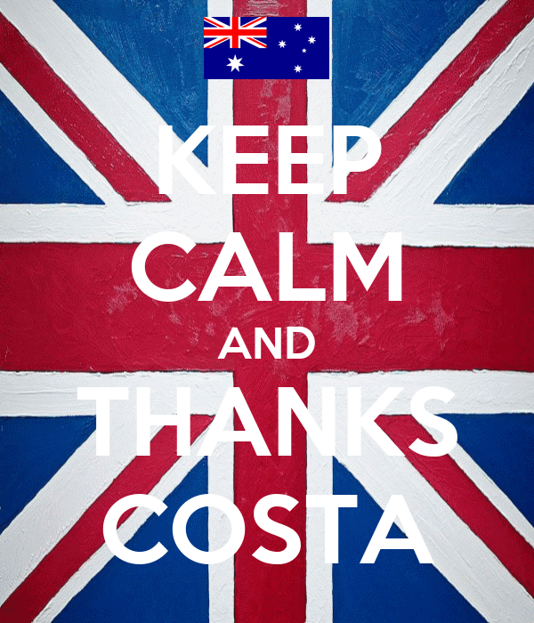 KEEP CALM AND THANKS COSTA