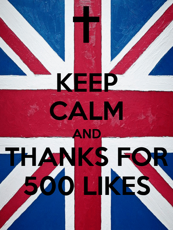 KEEP CALM AND THANKS FOR 500 LIKES