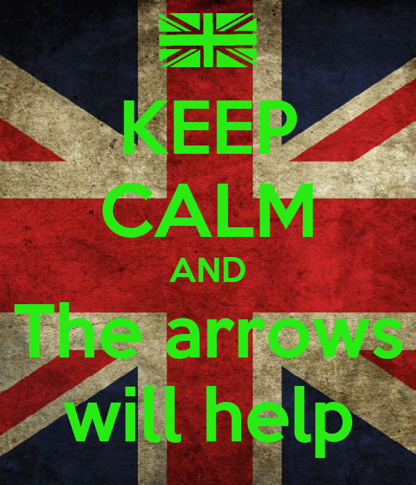 KEEP CALM AND The arrows will help