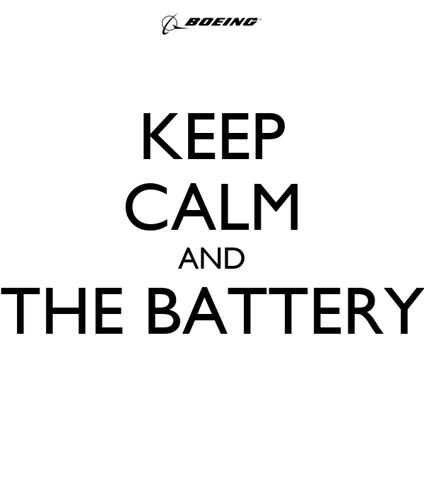 KEEP CALM AND THE BATTERY