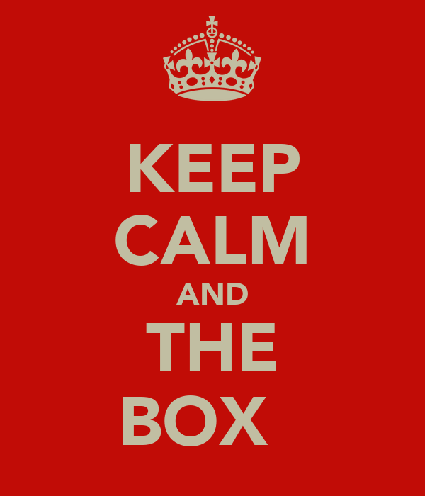 KEEP CALM AND THE BOX ☐