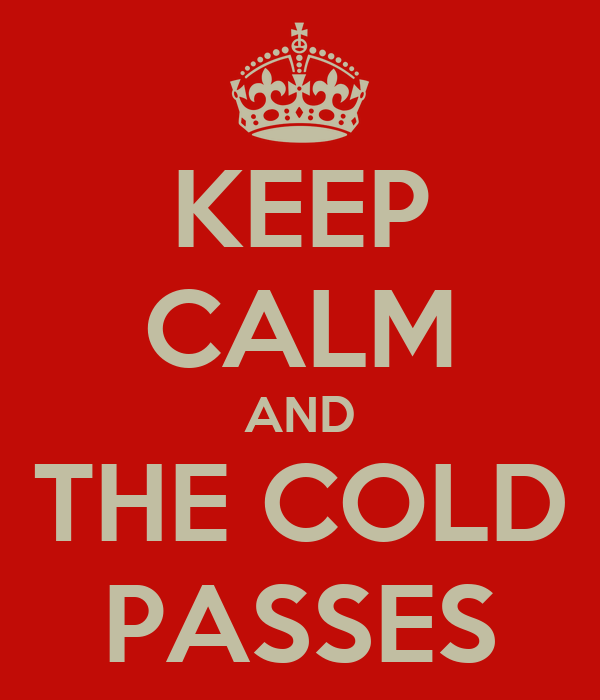 KEEP CALM AND THE COLD PASSES