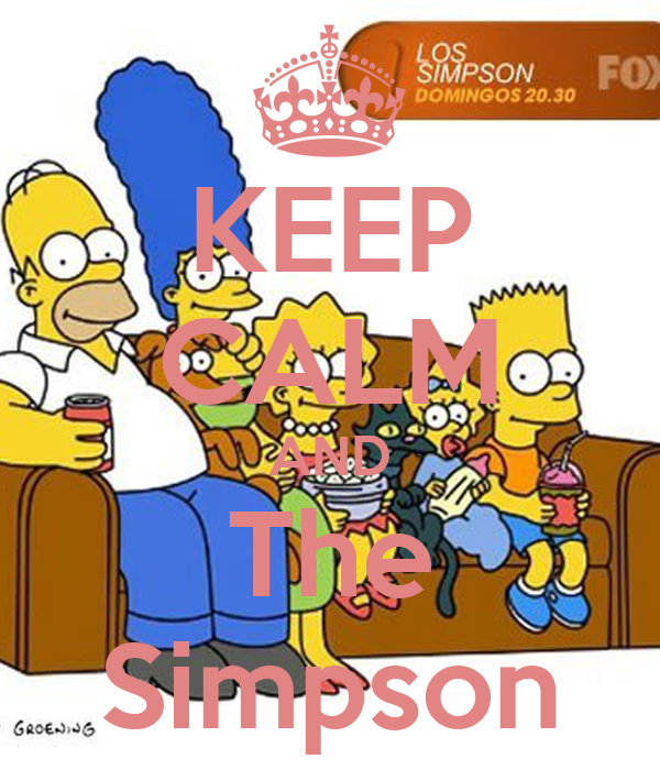 KEEP CALM AND The Simpson